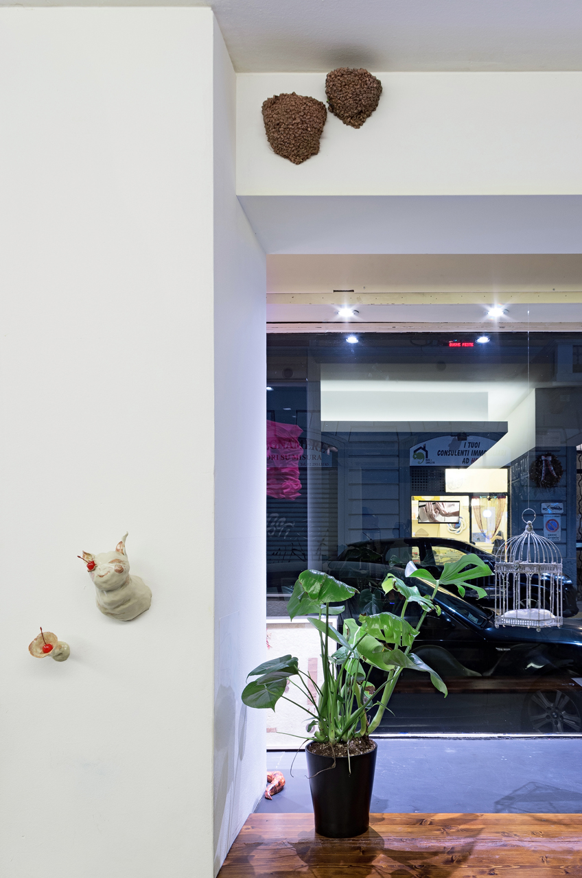 """Installation view """"BUBBLE TEA"""" organized by PANE project"""