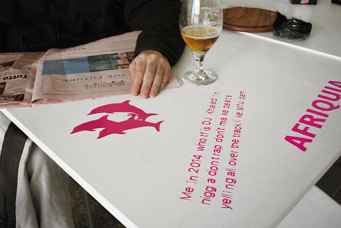 "ILJA KARILAMPI ""Roll Safeut"", 2015 - Vinyls on table"